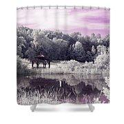 Ultraviolet Gazebo Shower Curtain