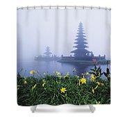 Ulu Danu Temple Shower Curtain