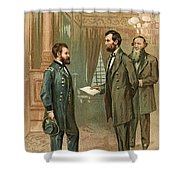 Ulysses S. Grant With Abraham Lincoln Shower Curtain