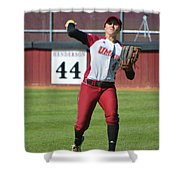 Umass Outfielder 4 Shower Curtain