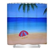 Umbrella For Rosy Shower Curtain