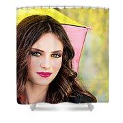 Umbrella Lady Shower Curtain