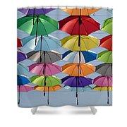 Umbrella Rainbow Shower Curtain