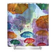Umbrella Sky Shower Curtain