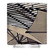 Umbrellas Sepia Shower Curtain