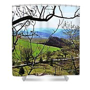 Umbria Mountains Shower Curtain