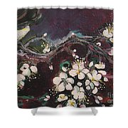 Ume Blossoms Shower Curtain
