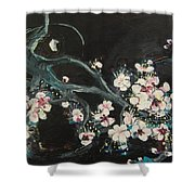 Ume Blossoms2 Shower Curtain