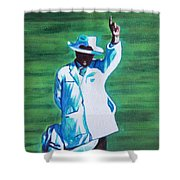 Umpiring Shower Curtain