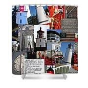 Umpqua River Lighthouse Collection Shower Curtain