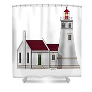 Umpqua River Lighthouse  In Oregon Shower Curtain