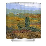 un altro pomeriggio in Toscana Shower Curtain by Guido Borelli