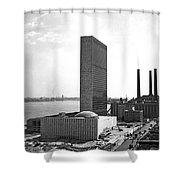 Un Building Under Construction Shower Curtain