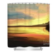 Un Coucher De Soleil Shower Curtain