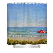 Un Parasol Rouge Shower Curtain