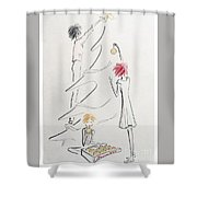 Un Peu De Noel Shower Curtain