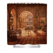 Una Logia Privada Shower Curtain