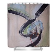 Unaccustomed Thought-abstract Art Shower Curtain