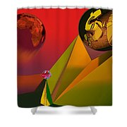 Unbalanced-the Source Of Violence Shower Curtain