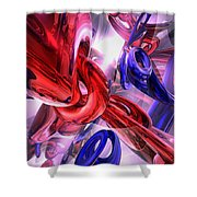 Unchained Abstract Shower Curtain