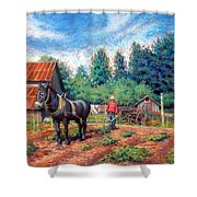 Uncle Frank And Bully Shower Curtain