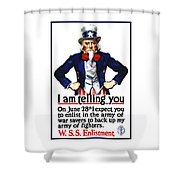 Uncle Sam -- I Am Telling You Shower Curtain
