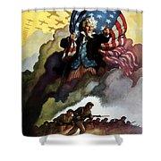 Uncle Sam - Buy War Bonds Shower Curtain