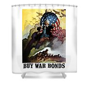 Uncle Sam - Buy War Bonds Shower Curtain by War Is Hell Store