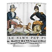 Uncle Sam: Cartoon, 1840 Shower Curtain