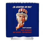 Uncle Sam - I'm Counting On You Shower Curtain
