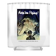 Keep 'em Flying - Uncle Sam  Shower Curtain