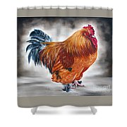 Uncle Samie's Rooster Shower Curtain