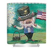 Uncle Spam Shower Curtain