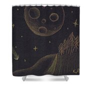 Under Alien Atars Shower Curtain