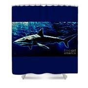 Under Blue Sea Shower Curtain