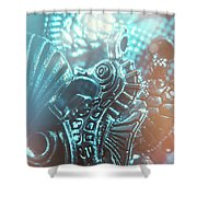 Under Blue Seas Shower Curtain