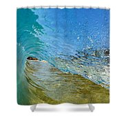 Under Breaking Wave Shower Curtain