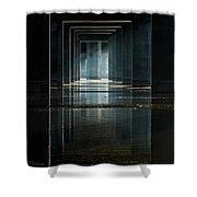 Under Clark Bridge Shower Curtain