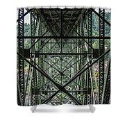 Under Deception Pass Bridge Shower Curtain