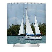 Under Full Sail Shower Curtain