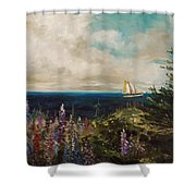 Under Full Sail Shower Curtain