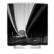 Under Interstate 5 Sacramento Shower Curtain