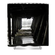 Under Santa Monica Pier Shower Curtain
