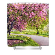 Under The Apple Tree Shower Curtain