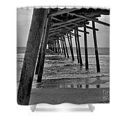 Under The Boardwalk Alantic Beaches Nc Shower Curtain