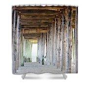 Under The Boardwalk Except It's The Pier Shower Curtain