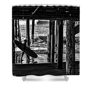 Under The Boardwalk Shower Curtain by Tommy Anderson