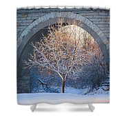 Under The Bridge, A Winter's Song Shower Curtain