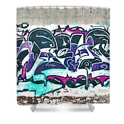 Under The Bridge Graffiti 5 Shower Curtain