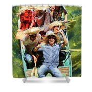 Under The Bridge Vietnamese Smiles  Shower Curtain